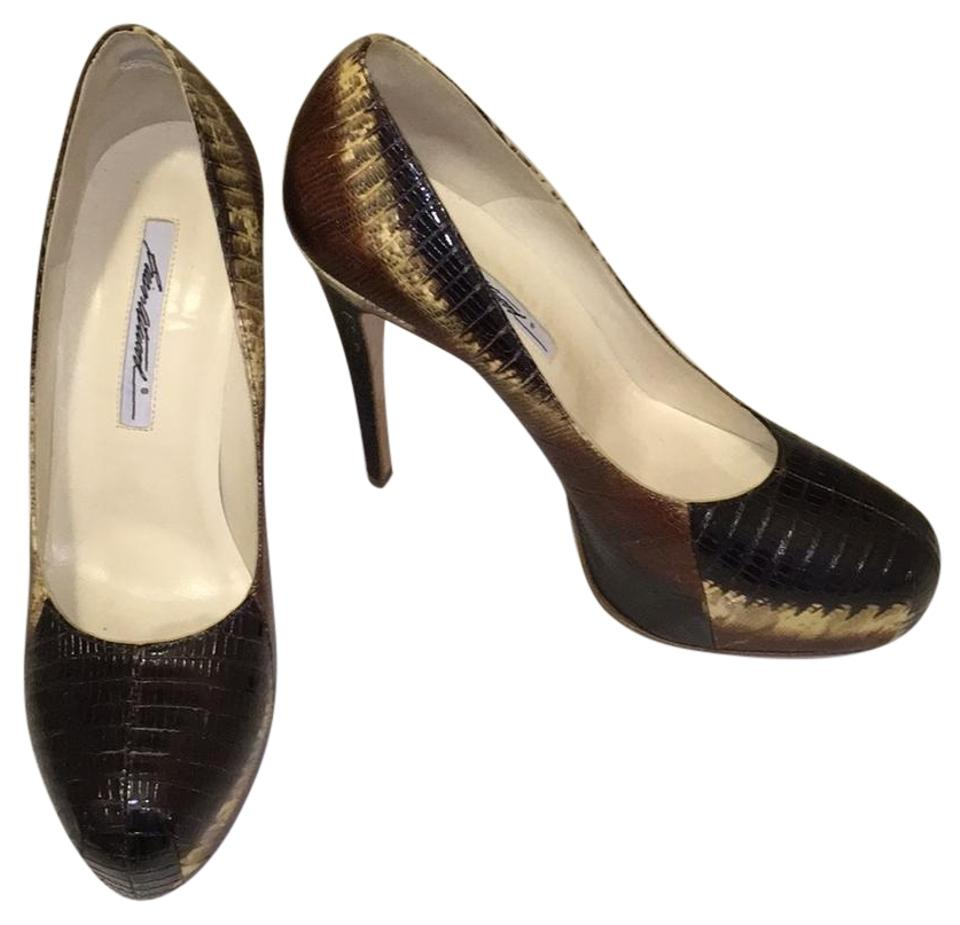 Brian Platforms Atwood Black/Brown/Cream Snakeskin Heels Platforms Brian 4d3653