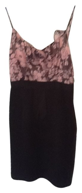 Preload https://item1.tradesy.com/images/milly-black-and-pink-above-knee-workoffice-dress-size-4-s-22165-0-0.jpg?width=400&height=650