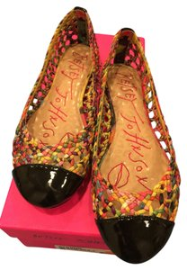 Betsey Johnson Black Multi Flats