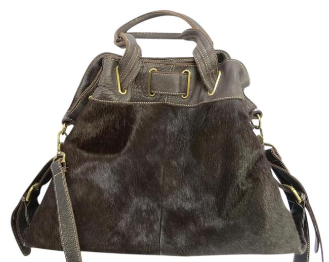 Item - And Brown Leather / Cowhide Satchel