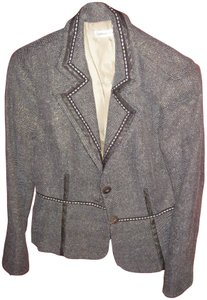 Preload https://item3.tradesy.com/images/coldwater-creek-brown-and-cream-with-gold-metallic-rn-98516-blazer-size-10-m-2216522-0-1.jpg?width=400&height=650