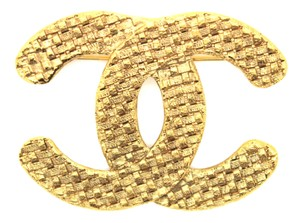 Chanel Chanel CC Textured Brooch