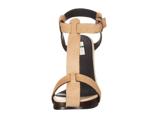 Calvin Klein Collection Leather Gold Haircalf Sandals