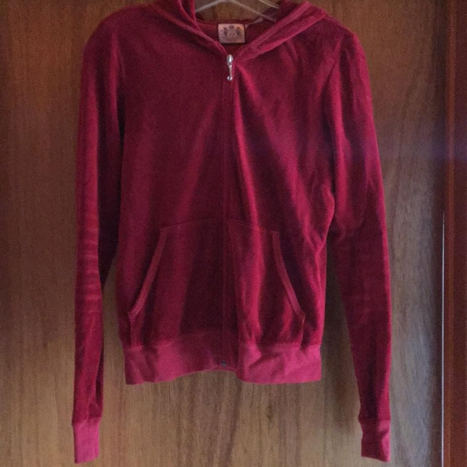 3bc00e3e639e Juicy Couture Burgundy Velour Jacket Activewear Size 12 (L) - Tradesy