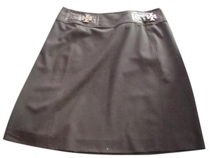 Tory Burch Wool Skirt Brown