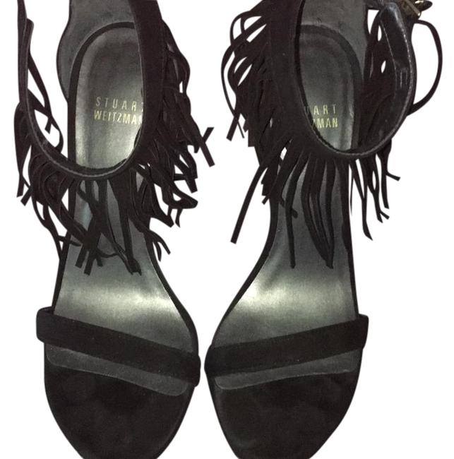 Stuart Weitzman Black Love Fringe Formal Shoes Size US 6 Regular (M, B) Stuart Weitzman Black Love Fringe Formal Shoes Size US 6 Regular (M, B) Image 1