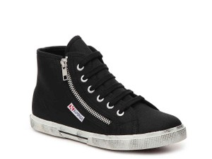 Superga Zippers High-top Sneakers Black Flats