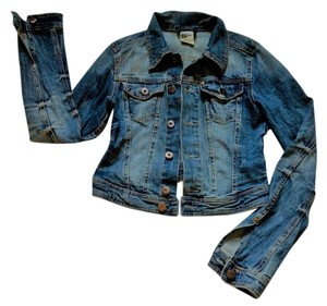 H&M Trucker Distressed Jean Denim Jacket