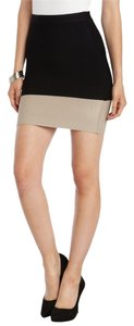 BCBGMAXAZRIA Mini Skirt Black-Pumice