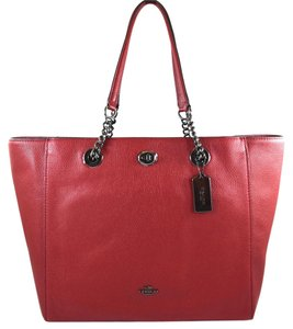 Coach Tote in cherry