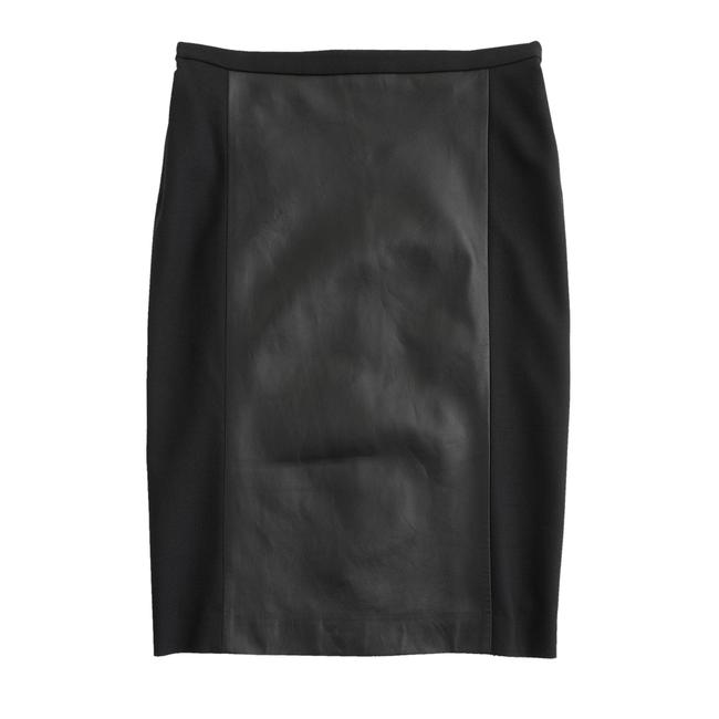 J.Crew Collection Pencil Skirt Black, Black Leather Image 0