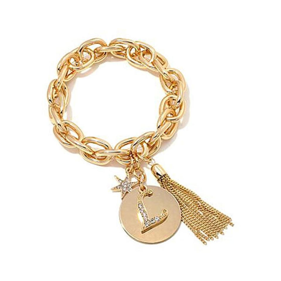 Rj graziano gold l initial chain link charm bracelet tradesy rj graziano rj graziano l initial chain link charm bracelet mozeypictures Images