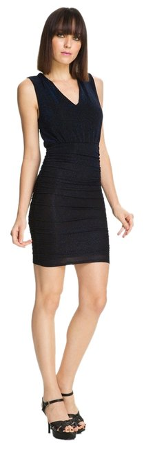 Preload https://item1.tradesy.com/images/alice-olivia-keely-black-blue-ruched-shimmer-above-knee-night-out-dress-size-12-l-2216655-0-0.jpg?width=400&height=650