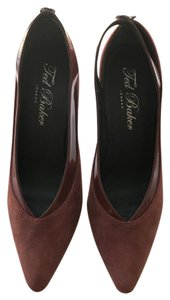 Ted Baker Suede Patent Orange/Red Pumps