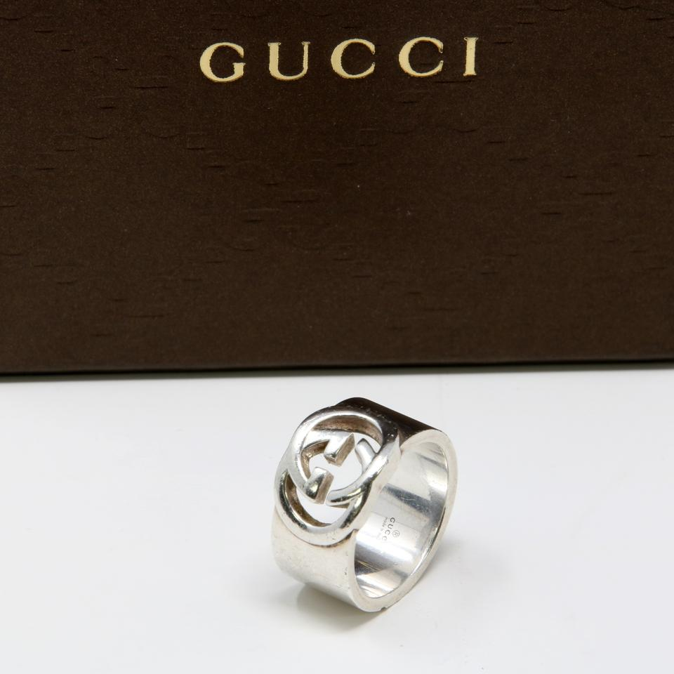 9331c36fb Gucci Signature GG Interlocking Motif Sterling Silver Men's Ring Image 8.  123456789