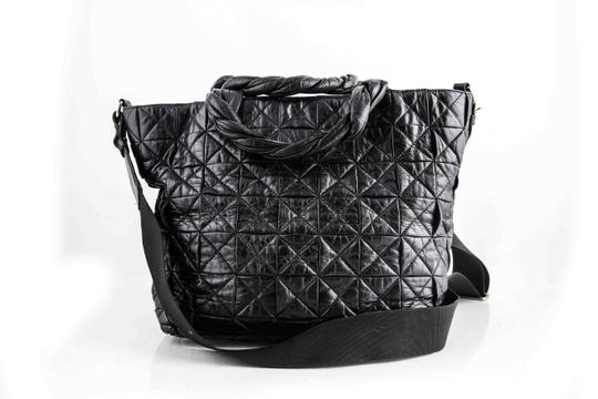 Chanel Calfskin Black Shopper Shoulder Bag Image 3