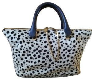 Chloé Satchel in Spotted black and white