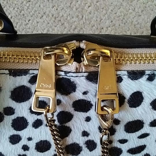 Chloé Satchel in Spotted black and white Image 1
