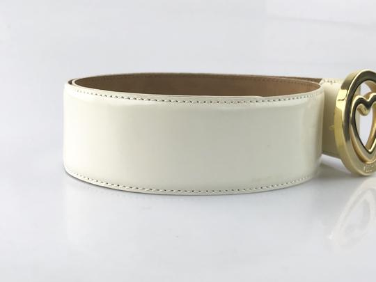 Moschino Heart Buckle Patent Leather Belt Image 1