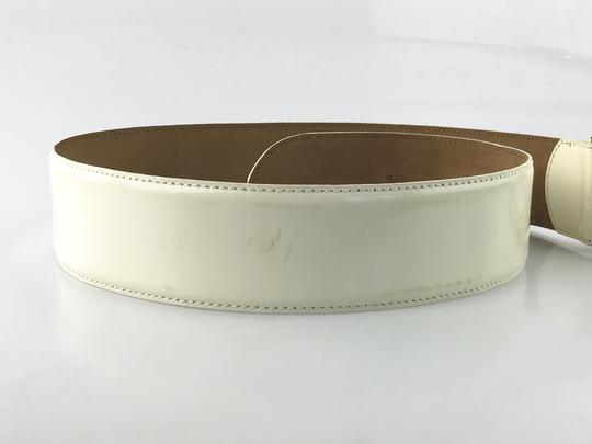 Moschino Heart Buckle Patent Leather Belt Image 4