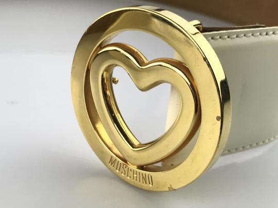 Moschino Heart Buckle Patent Leather Belt Image 7