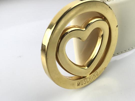 Moschino Heart Buckle Patent Leather Belt Image 8