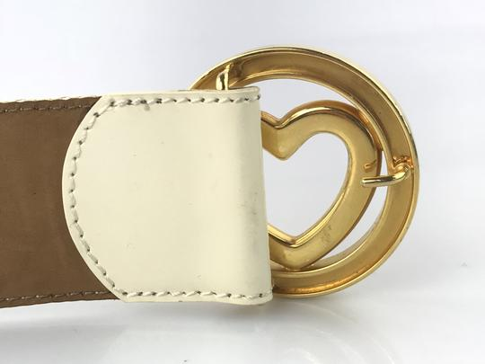 Moschino Heart Buckle Patent Leather Belt Image 9