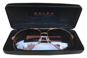 Ralph Lauren Ralph Lauren Rose Gold and Tortoise Shell Aviator Sunglasses