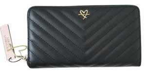 Victoria's Secret Victoria's Secret LOVE logo Quilted continental zip around Long Wallet