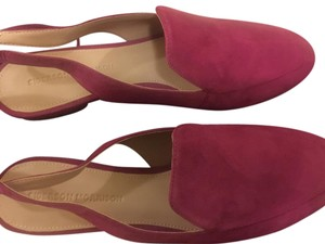 Sigerson Morrison Suede Raspberry Mules