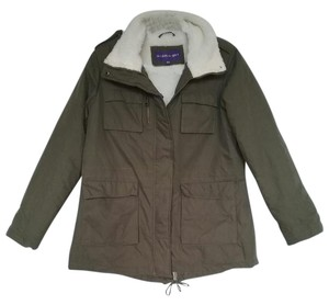 Madden Girl Utility Quilted Comfortable Olive Jacket