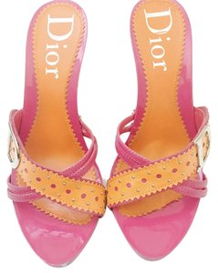 Dior Heels Pink and Orange Mules