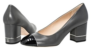 Chanel Grey and Black Pumps