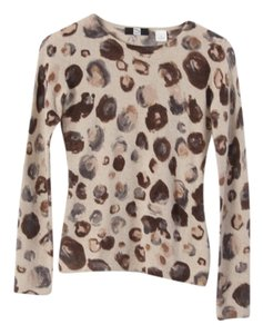 Saks Fifth Avenue Cashmere Animal Print Sweater