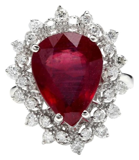 Preload https://img-static.tradesy.com/item/22167935/white-gold-790-carats-natural-ruby-and-diamond-14k-solid-ring-0-1-540-540.jpg