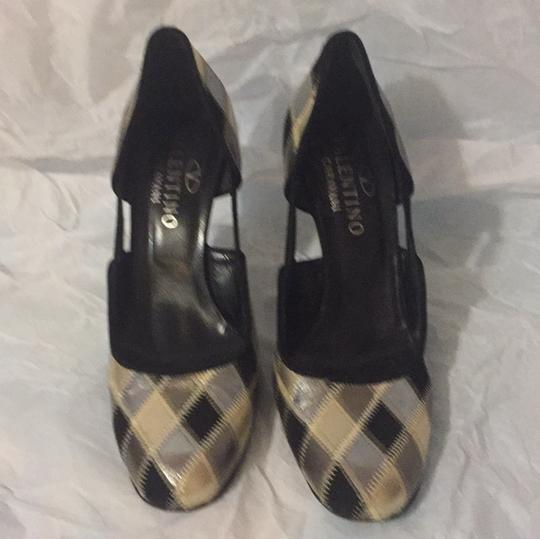 Valentino GOLD/SILVER/BLACK Pumps Image 2