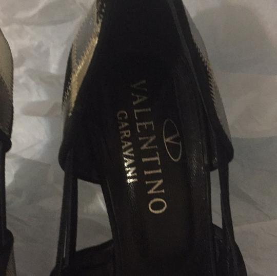 Valentino GOLD/SILVER/BLACK Pumps Image 3