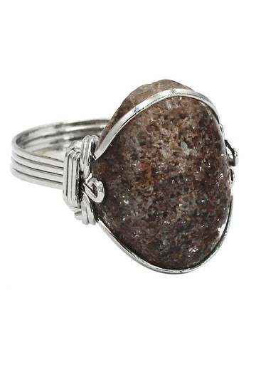 Ocean Fashion Fashion natural stone silver ring Image 0