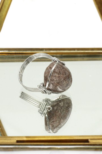 Ocean Fashion Fashion natural stone silver ring Image 1