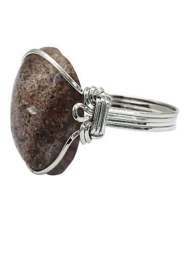 Ocean Fashion Fashion natural stone silver ring Image 2