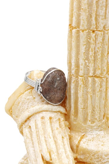 Ocean Fashion Fashion natural stone silver ring Image 4