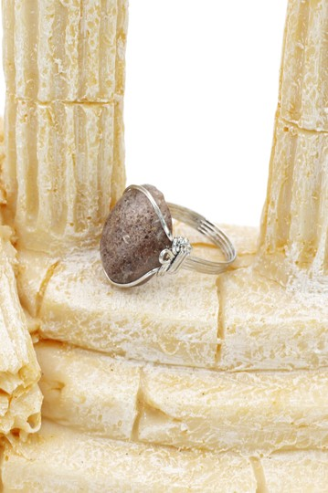 Ocean Fashion Fashion natural stone silver ring Image 5