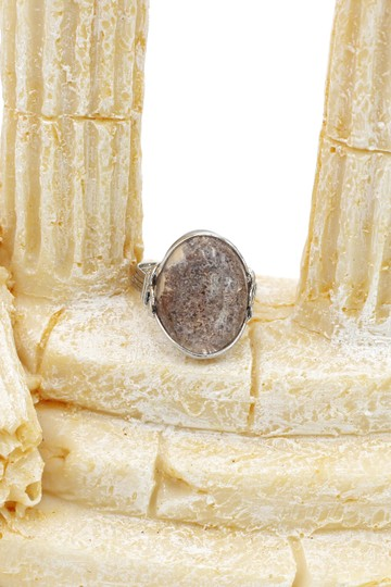 Ocean Fashion Fashion natural stone silver ring Image 6