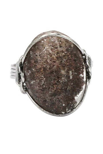 Ocean Fashion Fashion natural stone silver ring Image 7