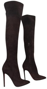 Christian Louboutin High Heels Thigh High Over Knee Brown Boots