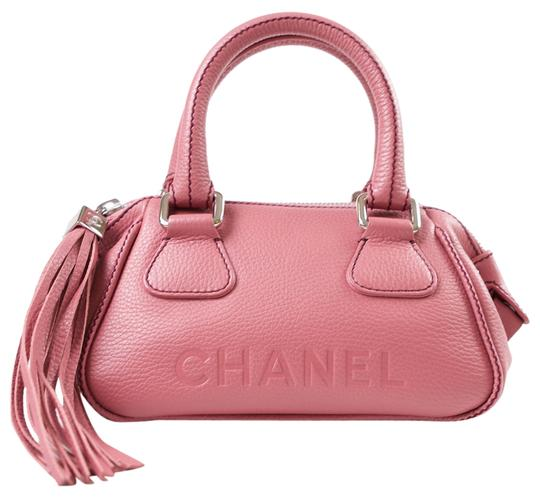 Preload https://item5.tradesy.com/images/chanel-tote-with-tassel-pink-leather-satchel-2216809-0-0.jpg?width=440&height=440