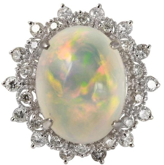 Preload https://img-static.tradesy.com/item/22168118/white-gold-673ct-natural-ethiopian-opal-and-diamond-14k-solid-ring-0-2-540-540.jpg