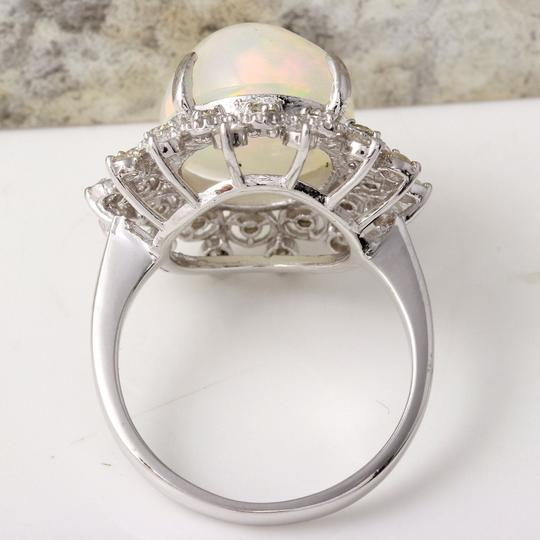 Other 6.73Ct Natural Ethiopian Opal and Diamond 14K Solid White Gold Ring Image 3