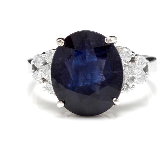 Preload https://img-static.tradesy.com/item/22168131/white-gold-960ct-natural-blue-sapphire-and-diamond-14k-solid-ring-0-0-540-540.jpg