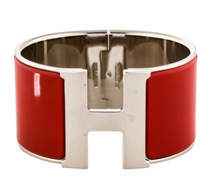 Hermès Palladium-plated Hermes Extra Wide Clic H Bangle GM